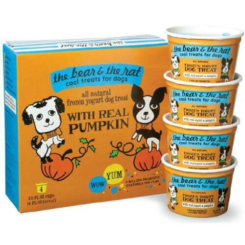 Pumpkin Cinnamon Yogurt Dog Treat